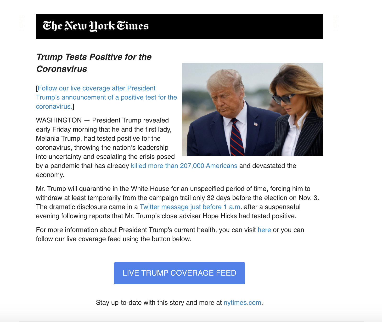 [Heads Up] Scam of The Week: Watch Out For Trump COVID Disinformation